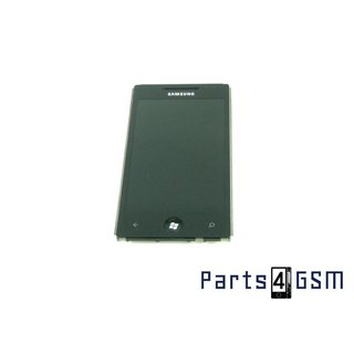Samsung Omnia 7 GT-i8700 Amoled Internal Screen + Digitizer Touch Panel Outer Glass + Frame Black [incl. ond]