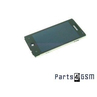 Samsung Omnia 7 GT-i8700 Amoled Intern Beeldscherm + Touchpanel Glas, Buitenvenster Raampje + Frame Zwart [incl. ond]