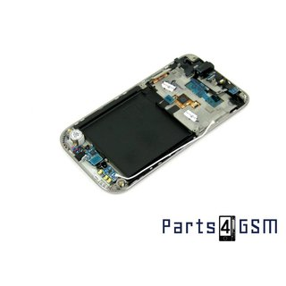 Samsung Galaxy S Plus GT-I9001 Lcd + Touchpanel Glas, Buitenvenster Raampje + Frame Wit GH97-12371C