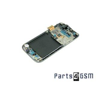 Samsung Galaxy S Plus GT-I9001 Lcd + Touchpanel Glas, Buitenvenster Raampje + Frame Zwart GH97-12371A