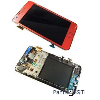 Samsung Galaxy S2 i9100 LCD Display + Touchscreen + Frame Pink GH97-13080A