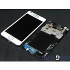Samsung Galaxy S II i9100G Intern Beeldscherm + Touchpanel Glas, Digitizer + Frame Wit GH97-12354B4/4