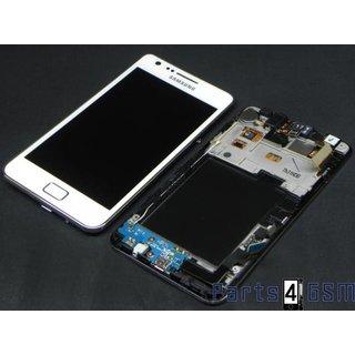 Samsung Galaxy S2 i9100G LCD + Touchscreen + Frame White GH97-12354B