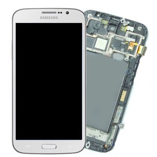Samsung Galaxy Mega 6.5 i9200 / i9205 LCD Display + Touchscreen + Frame White GH97-14751B