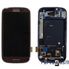 Samsung Galaxy S3 / S III i9300 Internal Screen + Digitizer Touch Panel Outer Glass + Frame Brown GH97-13630D