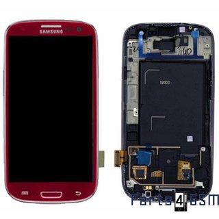 Samsung i9300 Galaxy S3 / S III Lcd Display Module, Rood, GH97-13630C