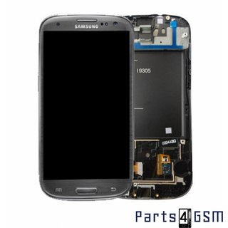 Samsung Galaxy S III i9305 LTE LCD Display + Touchscreen + Frame Grey GH97-14106A