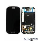 Samsung Galaxy S III i9305 LTE Interne Beeldscherm + Touchscreen + Frame Zwart GH97-14106B4/3