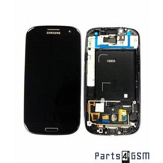 Samsung Galaxy S III i9305 LTE Lcd Display + Touchscreen + Frame Zwart GH97-14106B