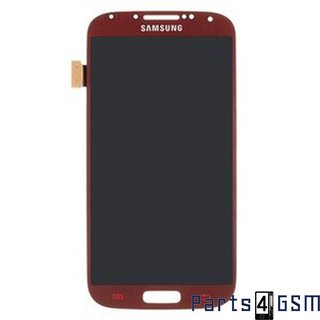 Samsung Galaxy S IV /S4 i9500 Lcd Display + Touchscreen + Frame Rood GH97-14630F