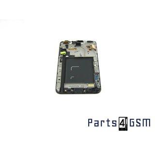 Samsung Galaxy Note N7000 Intern Beeldscherm + Touchpanel Glas, Buitenvenster Raampje + Frame GH97-13082A Zwart