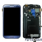 Samsung Galaxy Note II N7100 Lcd Display + Touchscreen + Frame Blauw GH97-14112E