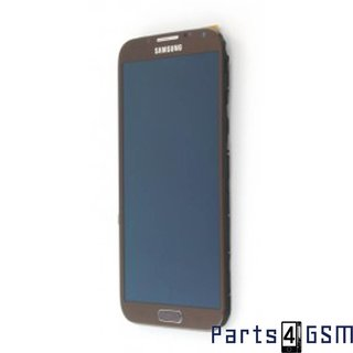 Samsung Galaxy Note II N7100 LCD Display + Touchscreen + Frame Brown GH97-14112C
