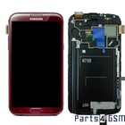 Samsung Galaxy Note II N7100 LCD Display + Touchscreen + Frame Red GH97-14112D