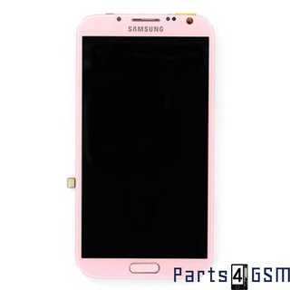 Samsung Galaxy Note II N7100 Lcd Display + Touchscreen + Frame Roze GH97-14112F