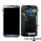 Samsung Galaxy Note 2 N7100 Intern Beeldscherm + Touchpanel Glas, Buitenvenster Raampje + Grijs GH97-14112B