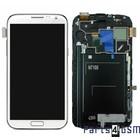 Samsung Galaxy Note 2 N7100 Intern Beeldscherm + Touchpanel Glas, Buitenvenster Raampje + Frame Wit GH97-14112A