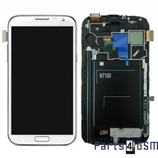 Samsung Galaxy Note II N7100 LCD Display + Touchscreen + Frame White GH97-14112A
