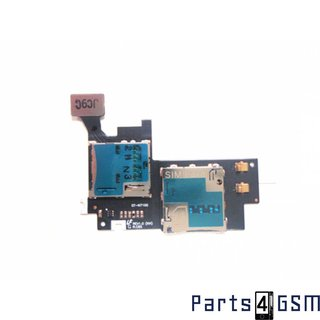 Samsung Galaxy Note II N7100 Simkaart + MicroSD connector Flexkabel GH59-12688A