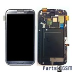 Samsung Galaxy Note II LTE N7105 Interne Beeldscherm + Digitizer, Displayglas, Touchpanel Glas, Buitenvenster + Frame Grijs GH97-14114B