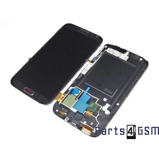 Samsung Galaxy Note II LTE N7105 Lcd Display + Touchscreen + Frame Rood GH97-14114D