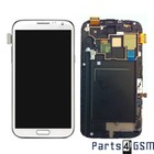 Samsung Galaxy Note II LTE N7105 Interne Beeldscherm + Digitizer, Displayglas, Touchpanel Glas, Buitenvenster + Frame Wit GH97-14114A