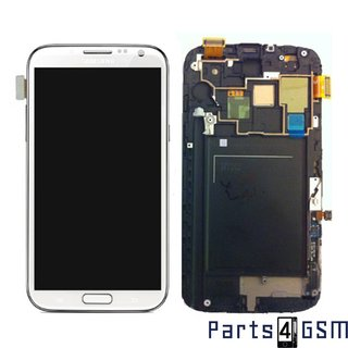 Samsung Galaxy Note II LTE N7105 LCD Display + Touchscreen + Frame White GH97-14114A