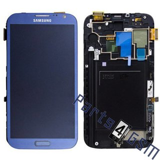 Samsung Galaxy Note II LTE N7105 Lcd Display Module, Blauw, GH97-14114E