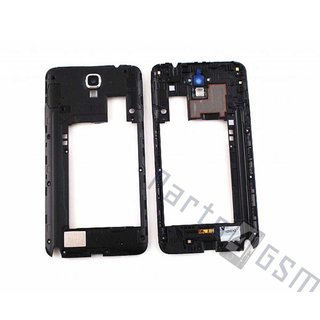 Samsung Galaxy Note III / Note 3 Neo N7505 Middenbehuizing, Zwart, GH96-06921A