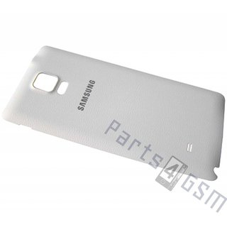 Samsung N910F Galaxy Note 4 Battery Cover, White, GH98-34209A