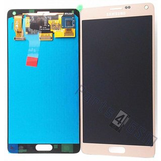 Samsung N910F Galaxy Note 4 Lcd Display Module, Goud, GH97-16565C