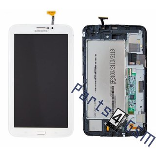 Samsung Galaxy Tab 3 7.0 T211 LCD Display Module, White, GH97-14816A