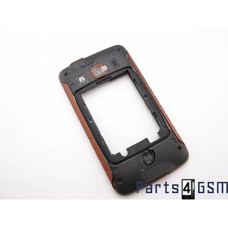 Samsung Galaxy Xcover S5690 Middenbehuizing Oranje/Zwart GH98-21402A