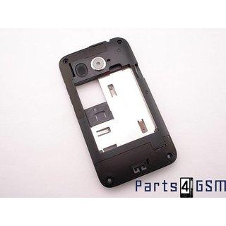 HTC Desire 200 Middenbehuizing, Zwart, 74H02485-00M
