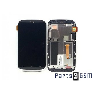 HTC Desire X LCD Display + Touchscreen + Frame Silver 80H01367-01 80H1367-01