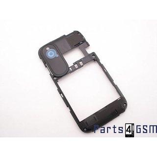 HTC Desire X Middenbehuizing Zwart 74H02304-04M