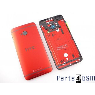HTC One (M7) Back Cover, Red, 74H02404-28M;83H40000-03