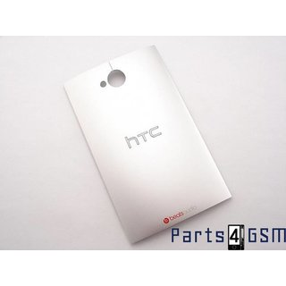 HTC One Dual Sim (M7 802w) Accudeksel, Zilver, 74H02454-05M;74H02454-07M