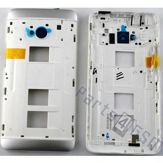 HTC One Dual Sim (M7 802w) Middle Cover, White, 74H02463-02M, 74H02463-06M
