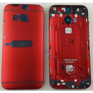 HTC One (M8) Battery Cover, Red, 74H02615-05M-B