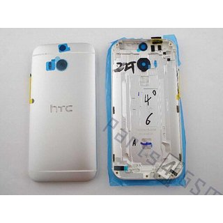 HTC One (M8) Accudeksel, Zilver, 83H40008-01;74H02615-02M
