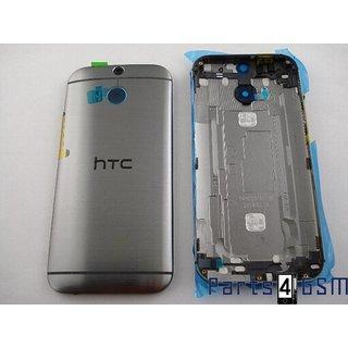 HTC One (M8) Achterbehuizing, Grijs, 83H40008-00; 83H40008-01; 83H40009-00; 74H02638-01M