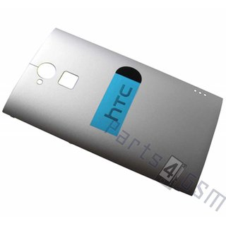 HTC One Max T6 Battery Cover, Silver, 74H02556-00M