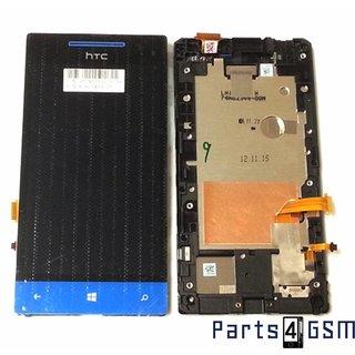 HTC Windows Phone 8S Lcd Display + Touchscreen + Frame Blauw 80H01413-01