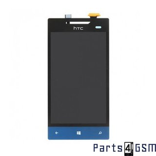 HTC Windows Phone 8S Lcd Display + Touchscreen Blauw 60H00708-00M