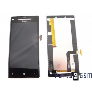 HTC Windows Phone 8X Lcd Display + Touchscreen Zwart 00571-00M