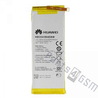 Huawei Ascend P7 Battery, HB3543B4EBW, 2460 mAh