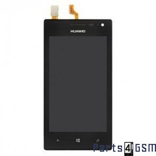 Huawei Ascend W1 LCD Display + Touchscreen + Frame Black