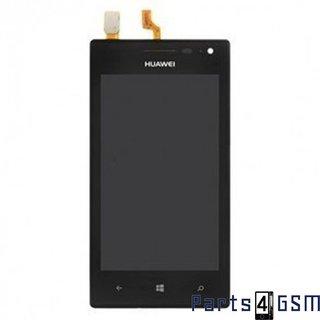 Huawei Ascend W1 Lcd Display + Touchscreen + Frame Zwart