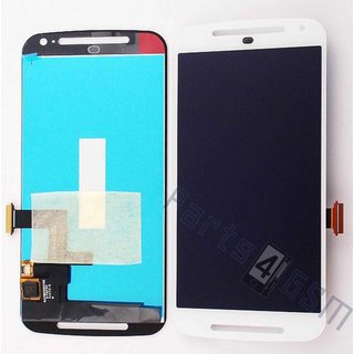 Motorola XT1068 Moto G2 LCD Display Module, White